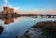 Riflessione della roccia di Laguna Immagini Stock Libere da Diritti