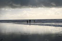 Riflessione della spiaggia Fotografia Stock