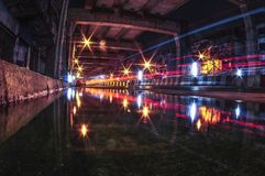 Riflessione della strada di Bangkok Fotografia Stock Libera da Diritti