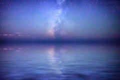 Riflessione della Via Lattea Fotografia Stock