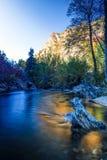 Il fiume freddo e caldo Immagini Stock