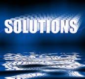 Riflessione delle soluzioni 3D Fotografia Stock Libera da Diritti