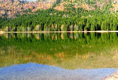 Riflessione di autunno, sul lago immagini stock libere da diritti