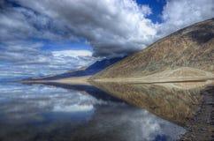 Riflessione di Badwater, Death Valley Immagine Stock