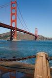 Riflessione di golden gate bridge Fotografie Stock Libere da Diritti