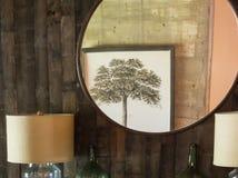 Riflessione di specchio, pittura dell'albero Immagini Stock