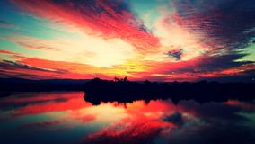 Riflessione di tramonti Fotografia Stock