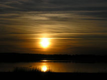 Riflessione di tramonto fotografia stock libera da diritti