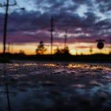 Riflessione di tramonto fotografie stock libere da diritti