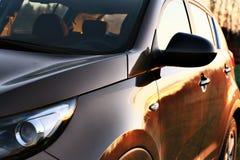 Riflessione di tramonto dell'automobile Fotografie Stock