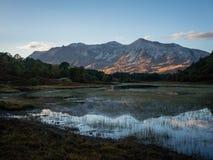 Riflessione di tramonto di Beinn Eighe Fotografie Stock Libere da Diritti