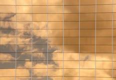 Riflessione dorata Fotografia Stock