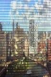 Riflessione edifici di Chicago Fotografia Stock Libera da Diritti