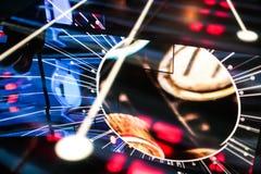 Riflessione elettronica del grande spazio dello starburst Fotografia Stock