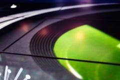 Riflessione elettronica della galassia verde intenso di tecnologia del pavimento del LED Fotografie Stock Libere da Diritti