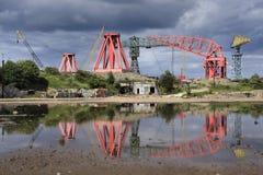 Riflessione industriale fotografie stock libere da diritti