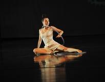 Riflessione invertita - musical di ballo: Linea rossa Fotografia Stock