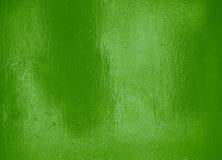 Riflessione leggera su stagnola verde Fotografie Stock