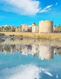 Riflessione in linea costiera di Alghero Immagini Stock Libere da Diritti