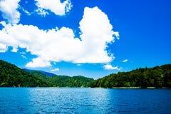 Riflessione nei laghi Plitvice in Croazia Fotografie Stock Libere da Diritti