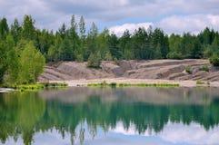 Riflessione nella foresta del lago Fotografie Stock Libere da Diritti