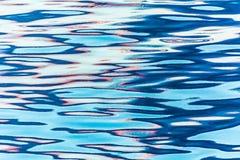 Riflessione nelle ondulazioni dell'acqua immagine stock