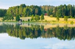 Riflessione rurale del dalsland della Svezia Fotografia Stock