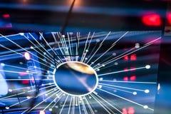 Riflessione strutturata elettronica variopinta del pavimento di Starburst LED Fotografia Stock