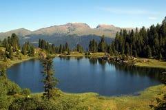 Riflessione sul lago Colbricon Fotografie Stock Libere da Diritti