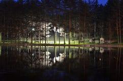 Riflessione sullo stagno di Zlatibor immagine stock