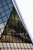 Riflessione in un grattacielo Immagini Stock
