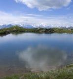 Riflessioni alpine del lago Fotografie Stock
