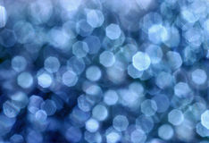 Riflessioni circolari blu Fotografia Stock