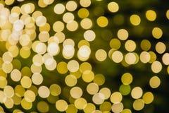 Riflessioni circolari delle luci di Natale Fotografia Stock