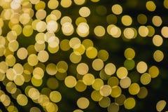 Riflessioni circolari delle luci di Natale Immagine Stock Libera da Diritti