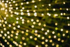 Riflessioni circolari delle luci di Natale Fotografia Stock Libera da Diritti
