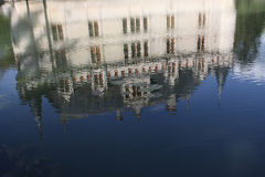 Riflessioni del Azay le Rideau in acqua Fotografie Stock Libere da Diritti