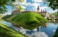 Riflessioni del castello di Nesvizh Immagine Stock Libera da Diritti