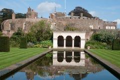 Riflessioni del castello di Walmer Fotografia Stock