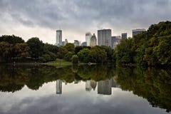 Riflessioni del Central Park Fotografie Stock Libere da Diritti