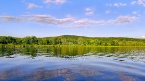 Riflessioni del fiume Connecticut Immagine Stock