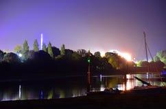 Riflessioni del fiume della fase principale Fotografie Stock