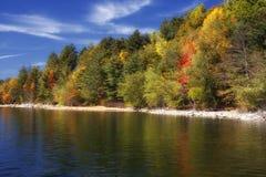 Riflessioni del lago Autmn Fotografia Stock