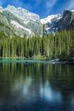 Riflessioni del lago moraine Fotografia Stock