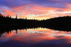 Riflessioni del lago morning della regione selvaggia Fotografie Stock Libere da Diritti