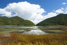 Riflessioni del lago mountain Immagine Stock
