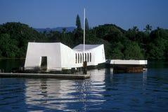 Riflessioni del memoriale di USS Arizona Fotografia Stock