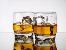 Riflessioni del whisky fotografia stock
