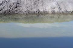 Riflessioni dell'acqua del cielo Fotografia Stock