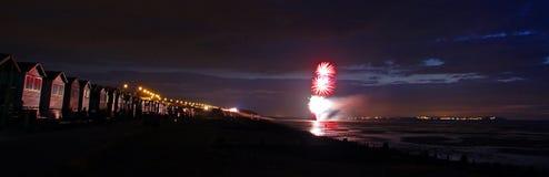 Riflessioni dell'esposizione del fuoco d'artificio Fotografia Stock Libera da Diritti